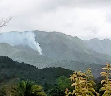 Possible geothermal activity southern Belize