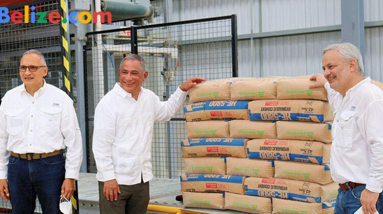 Prime Minister Briceno Rocafuerte cement plant Belize