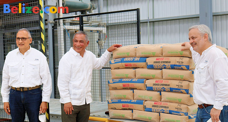 PM Briceno at new Belize cement plant
